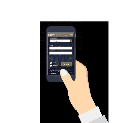 Kontaktlose Einlasskontrolle per QR-Code